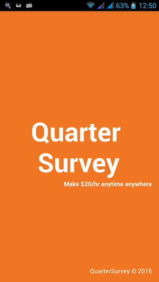 QuarterSurvey- screenshot