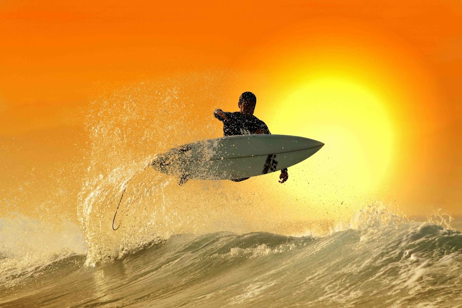 Sunset Jump by Alit  Apriyana - Sports & Fitness Surfing
