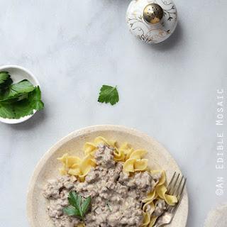 Quick Mushroom Beef Stroganoff Skillet Supper