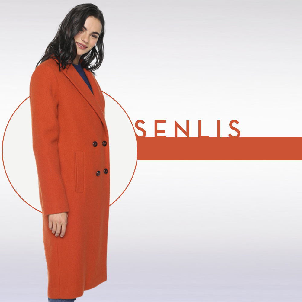 Manteau orange SENLIS