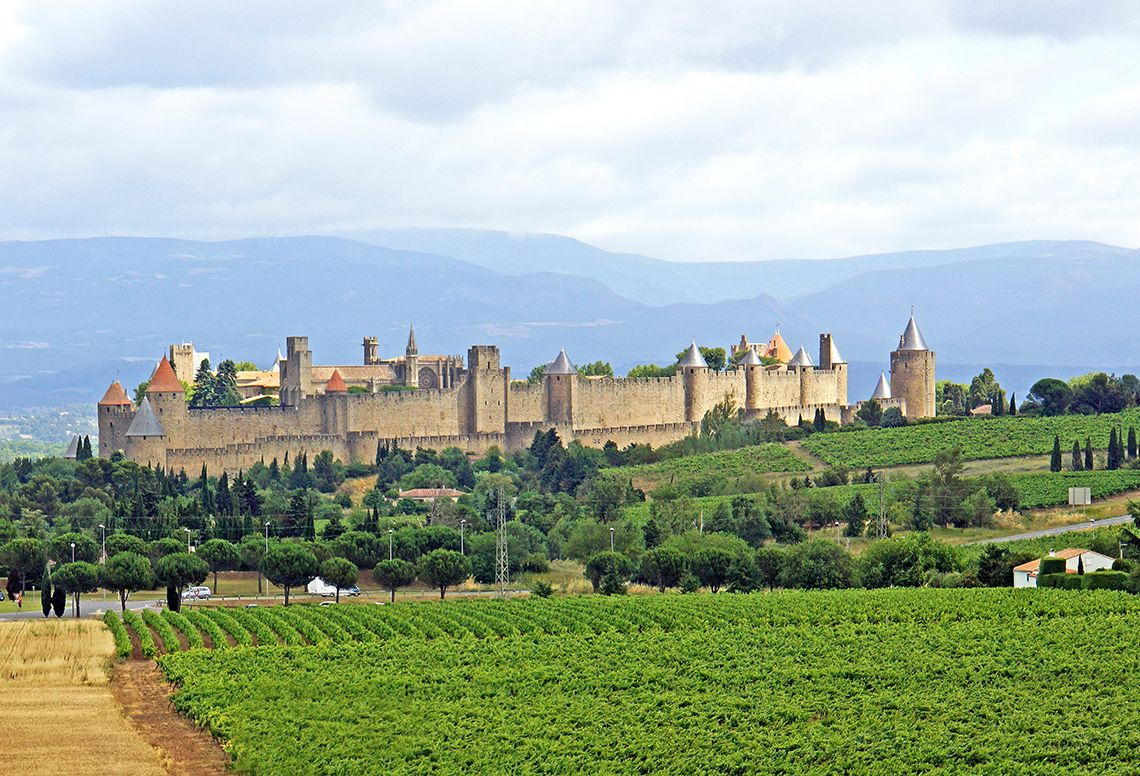 Замок Каркассон (Carcassonne) во Франции