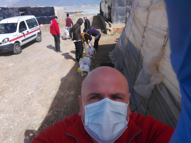 Imágenes cedidas por Cruz Roja del trabajo que hacen en los asentamientos