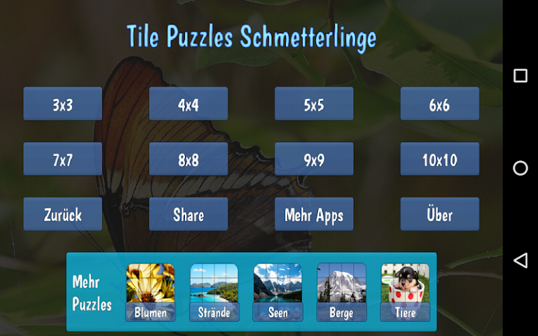 android Tile Puzzles · Butterflies Screenshot 11
