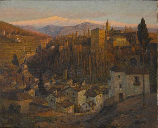 Afterglow - The Alhambra and Sierra Nevada, Granada