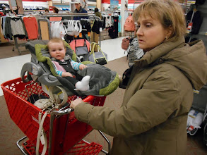 Photo: 2/8 - Shopping at Target while Julie gets her hair done.