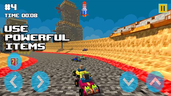Blocky Turbo Kart Racers - náhled