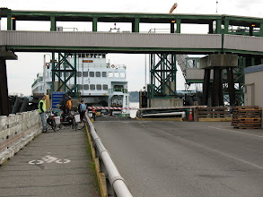 Photo: Day 2: There weren't very many bicyclists waiting for the ferry.