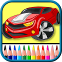 Cars coloring pages game icon