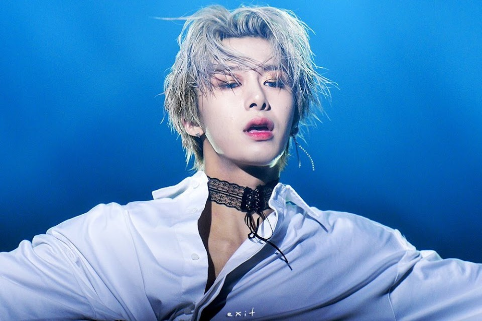 hyungwon blonde