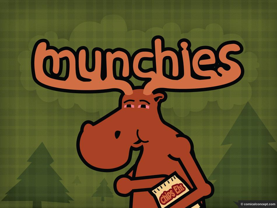 High Moose with Munchies eating chips