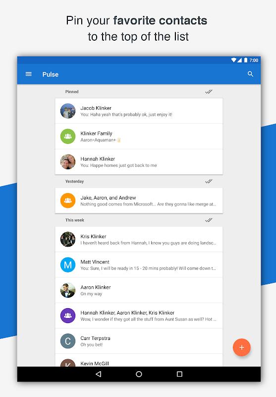 Pulse SMS (Phone/Tablet/Web) screenshots