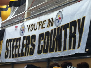 Photo: Yes, we are in Steelers Country. And it was so cool to see Walmart sporting the black and yellow.