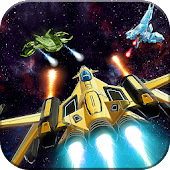 Space jet Air Force Fighter Spaceship Galaxy War