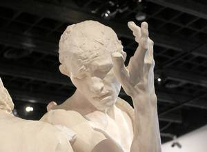 A closer look at one of Rodin's 'Burghers of Calais'