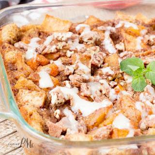 Easy Peach Cobbler Bread Pudding.
