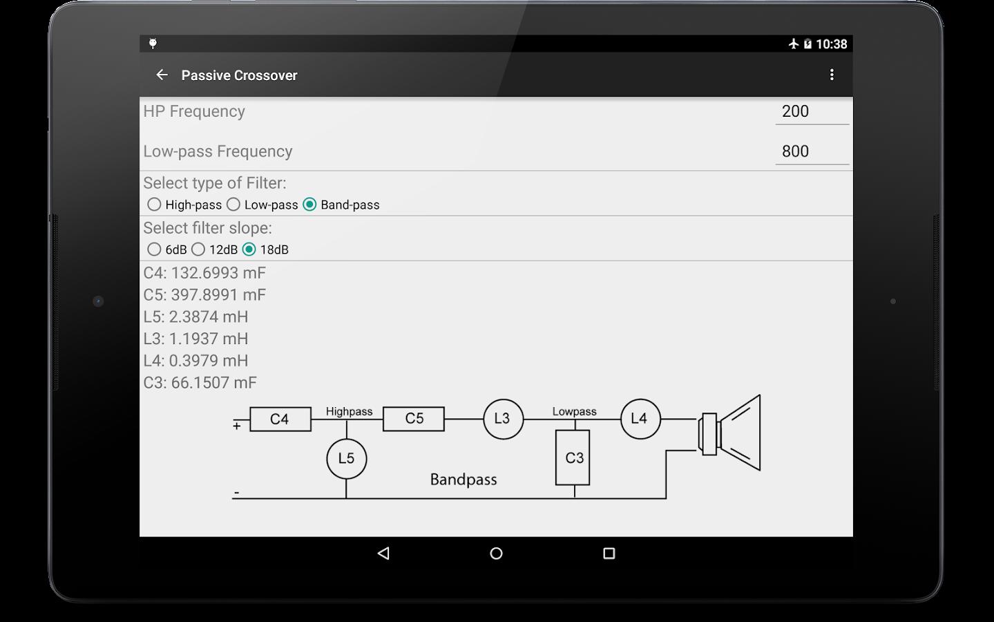 Crossover Calculator- screenshot