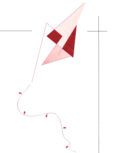 Détail cerf-volant - Vacances ilustration - liberté - Affiche personnalisée décoration enfant
