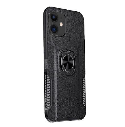 iPhone 12 - Stilsäkert Skyddande Skal med Ringhållare