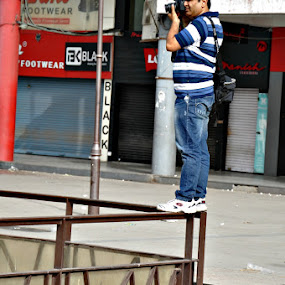 Photographer  by Satminder Jaggi - People Street & Candids ( photographer, taking photos, pwc75 )
