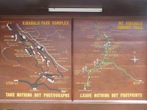 Photo: Přehledná mapka velitelství národního parku a vrcholové cesty