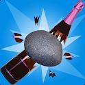 stone bottle shoot game icon