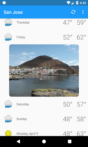 San Jose,CA - weather and more 1.0 screenshots 3