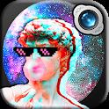 VaporWave Photo Editor: Glitch Sticker icon