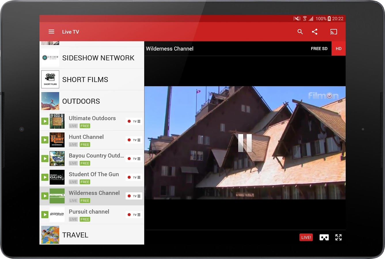 FilmOn Free Live TV- screenshot