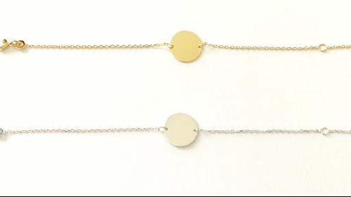 Bracelet médaille avec chaine