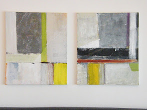 Photo: GHOST BUILDINGS 1-2 24X40 diptych mixed media