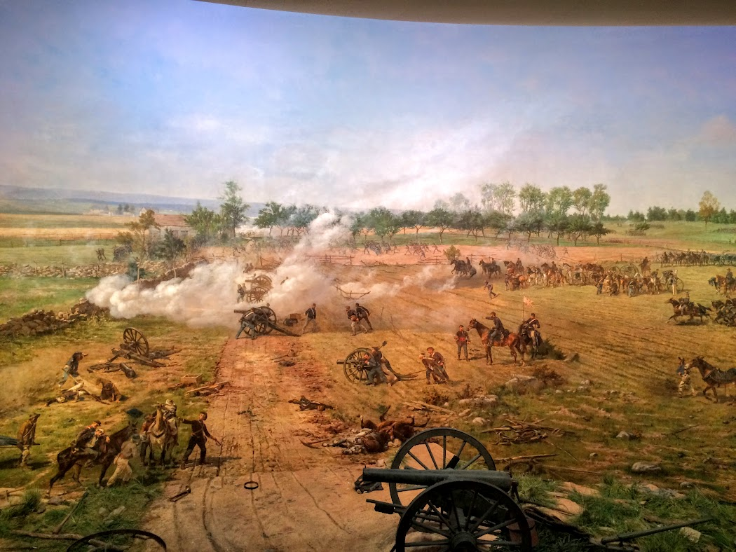 360 painting of the battle. It was originally done in the 1800's, and recently restored and displayed in a huge building. They have done a fantastic job. What a job the artist did. He painted this from sketches done during the three day battle.