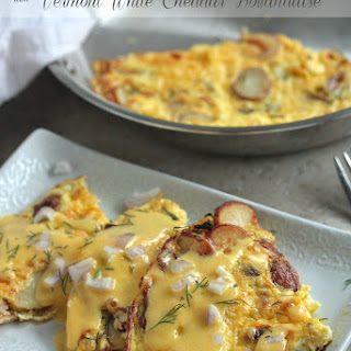 Potato Dill Frittata with Vermont White Cheddar Hollandaise