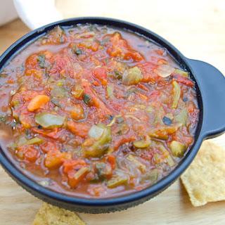 Instapot Fire Roasted Tomato Salsa.