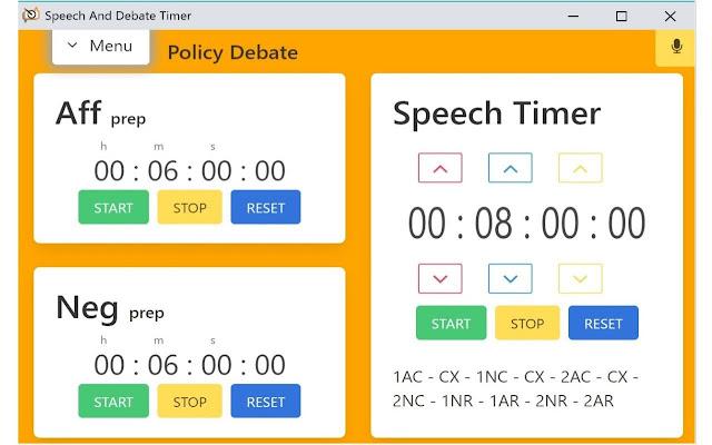 Speech And Debate Timer
