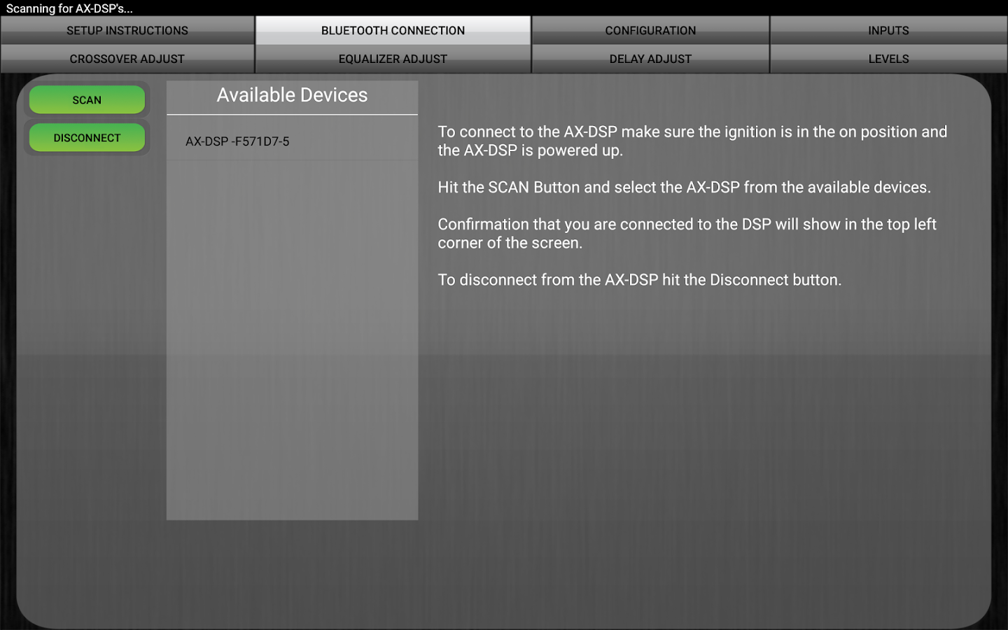 Axxess AX-DSP- screenshot