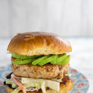 Chicken & Bacon Burger with Ranch Slaw.