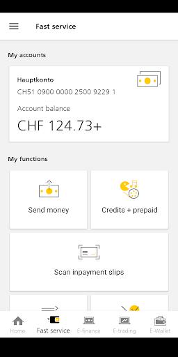 PostFinance Mobile screenshot 2