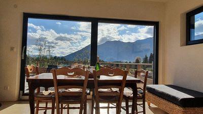 La salle à manger avec une vue incroyable