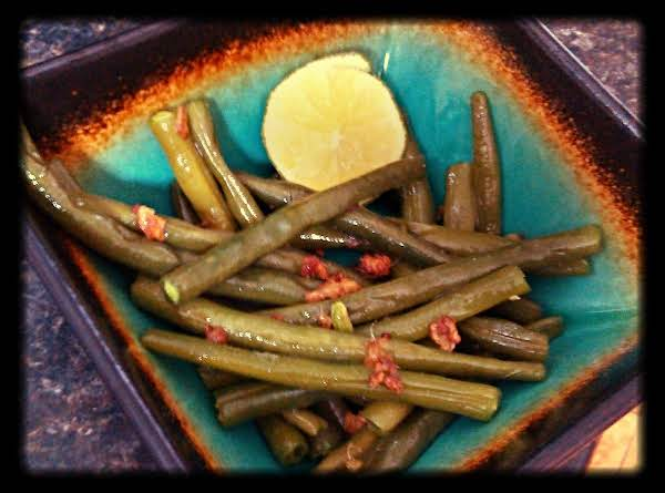 Honeyed Green Beans With Fried Ginger