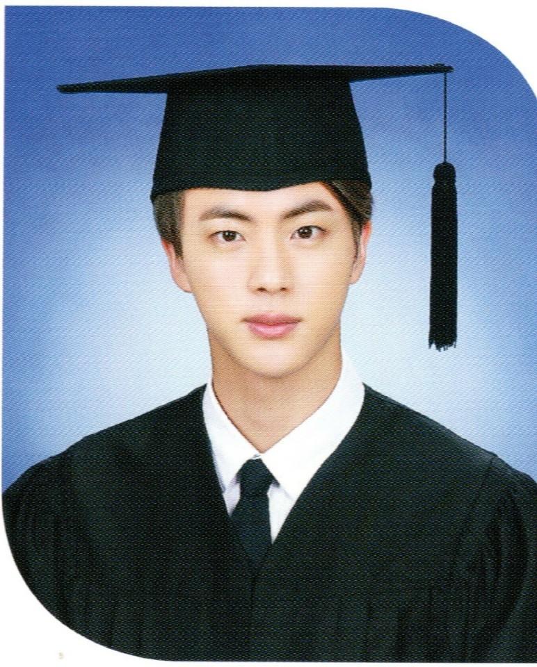 jin graduation photo