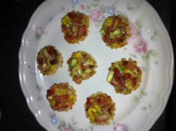 Chili & Cheese Cups With A Salty Sweet Salsa