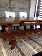 """Photo: Custom Viking Table 90""""L x 41""""W x 30""""H Color: Custom Match Finish: Dull Rubbed Hardware: Recessed Knobs, Hidden Soft Close Drawer, 5/8"""" Rod and Turnbuckle Investment: 2300  Custom Viking Table 90""""L x 16""""W x 18""""H Color: Custom Match Finish: Dull Rubbed Hardware: 5/8"""" Rod and Turnbuckle"""