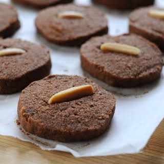 Chocolate-Almond Shortbread Cookies.