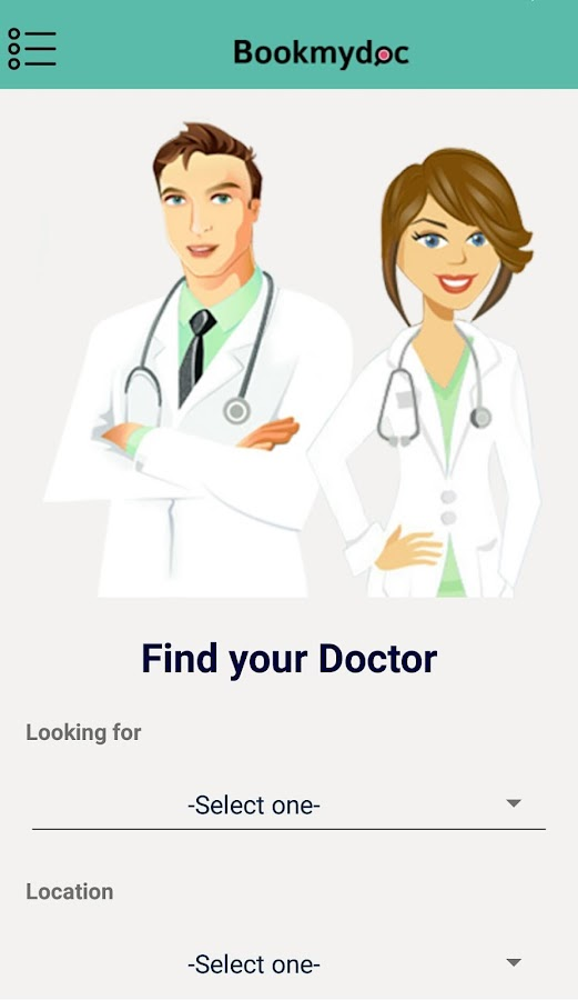Bookmydoc- screenshot