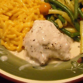 Easy Creamy Peppercorn Chicken.