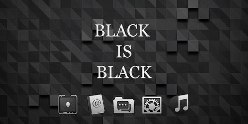 黒のクールな テーマ