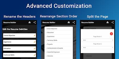 Resume builder Free CV maker templates formats app