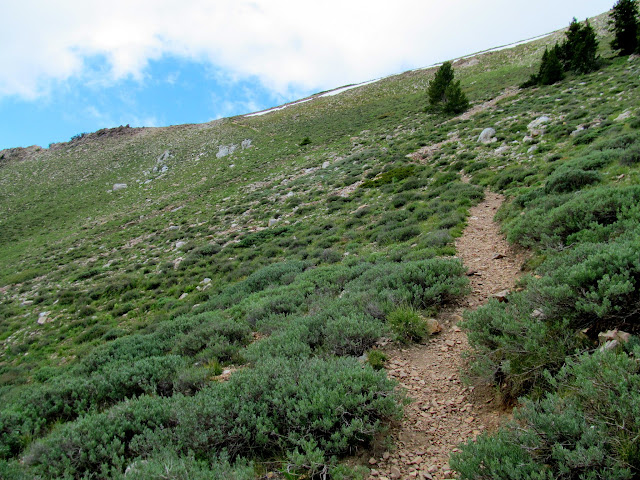 Trail approaching the second ridge