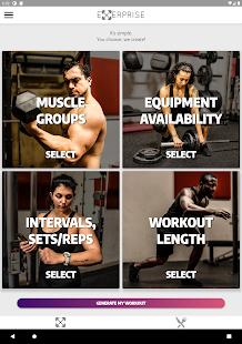 Exerprise - Workout & Meal Plan Generator