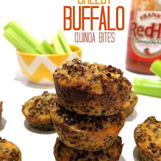 Cheesy Buffalo Quinoa Bites